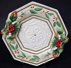 Fitz and Floyd Christmas Winter Wonderland Canape Plate Holiday 13