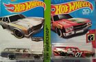 2) Hot Wheels '70 CHEVELLE SS WAGON Zamac, Red diecast cars