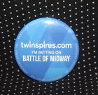 2017 Kentucky Derby Im Betting On Battle of Midway Pin Button HS2