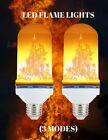 New 2 Pack LED Flicker Flame Simulated Burning Fire Effect Light Bulb 3 Modes