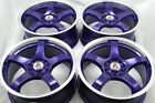 17 purple Wheels Rims Nitro MKZ TSX Milan Caravan Stratus Probe XB 5x100 5x1143