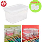 Plastic Storage Tote Box 20 qt Clear Containers Organizer Lids Bin Set of 6
