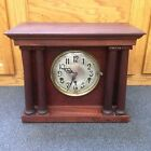 Antique Excelsior German Mantel Clock With Columns Beautiful High Quality Works