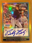 2009 Bowman Chrome Draft Prospects Gold Refractors Bobby Borchering AUTO #3 50