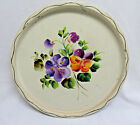 Vintage Hand Painted Round White 11