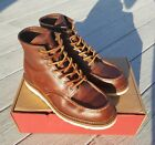 Red wing 1907 Copper Rough  Tough Moc Toe Boot 85 D Used