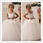 Princess Flower Girl Dresses for Birthday Wedding Prom Pageant Party Bride New G