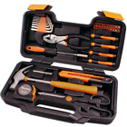 Cartman Orange 39-Piece Tool Set - General Household Hand Tool Kit with Plastic