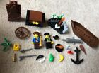 LEGO PIRATE MINIFIGS & Accessories captain boat treasure Chest Anchor cannon LOT