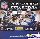 2015 Panini NFL Football Sticker MASSIVE 50 Packs Factory Sealed Box with 350...