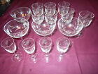 Vintage Etched Wheat Sherry Cordial Shot Champagne Drink Glasses 15 pcs 3 Style
