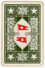 Playing Cards 1 Swap Card - Old Antique Linen WHITE STAR LINE Shipping Flag 1