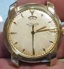 LeCoultre Mens Swiss Automatic Wind Indicator Yellow Gold Filled Wristwatch-runs