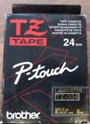 TZ354 - 24MM GOLD ON BLACK LAMINATED TAPE - BROTHER P~TOUCH