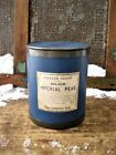 Large Early Antique Wood and Tin Pantry Box Cupboard Blue Paint Shaker Seeds