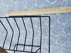 Wire Black Metal Magazine or Album Rack Stand Mid Century Modern MCM Vtg Atomic