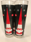 Vintage Set 2 Dairy Queen DQ Holt Howard Style Hi Ball Glasses Christmas Libbey