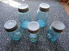 ball mason jars with lids,(2)quart and (3)pint
