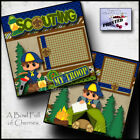 SCOUTING 2 premade scrapbook pages paper printed LAYOUT boy cub scouts CHERRY