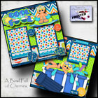 COOL IN THE POOL 2 premade scrapbook pages Paper printed vacation BY CHERRY