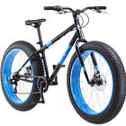 26 Mongoose Fat Tire Bike Mens Bicycle 7 Speed Steel Frame Black Dolomite New