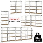 Heavy Duty Steel 71 5 Level Garage Shelf Metal Storage Adjustable Shelves Unit