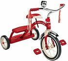 New Radio Flyer Kids Classic Red 12 Dual Deck Tricycle 100 Anniversary Edition