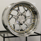 4 New 18 Aodhan DS01 DS1 Wheels 18x95 5x1143 15 Vacuum Platinum Rims