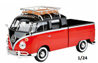 Volkswagen Type 2 T1 Delivery Pickup Truck Red Black 1 24 Diecast by Motormax