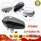 9L 2.4 Universal GAL Motorcycle Fuel Gas Tank Fits Honda CG125 Cafe Racer 4Color
