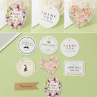 10pcs Heart Oval Shape Thank You Tags Crafts Wedding Postcards Gift Label Card