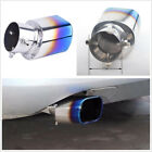 63mm Universal Stainless Steel Car Exhaust Tail Rear Muffler Tip Pipe Baked Blue