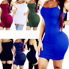 Women Bandage Bodycon Casual Sleeve Evening Cocktail Club Long Mini Dress Party