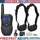 Dog Pet Electric Shock Training 2 Collar Waterproof Rechargeable 330Yard Remote