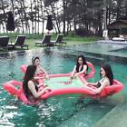 Water Swimming Pool Floating Playing Desk Inflatable Table Chairs Bed Water Toy