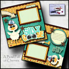 SILLY GOOSE boy 2 premade scrapbook pages paper piecing layout baby BY CHERRY