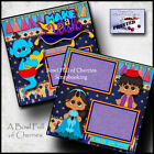 DISNEY ALADDIN 2 premade scrapbook pages paper piecing layout PRINCESS BY CHERRY