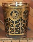 Libbey Prudential Gibraltar Vintage Black Gold MCM Mid Century Low Ball Glass