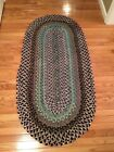 Antique BRAIDED Country RUG 61