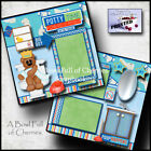 POTTY TIME BOY 2 premade scrapbook pages paper piecing toilet training CHERRY