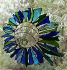 SEA ANEMONE Tranquil Stained Glass ABSTRACT SUNCATCHER Ocean Gifts 350mm square