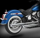 2018 Harley Exhaust 3 Chrome Mufflers Excalibur Chrome Tips by RC Components