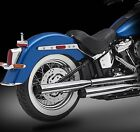 2018 Harley Exhaust 30 Chrome Mufflers Blitz Black Tips by RC Components