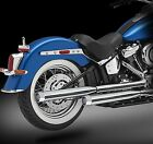 2018 Harley Exhaust 30 Chrome Mufflers Blitz Chrome Tips by RC Components