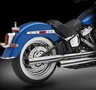2018 Harley Exhaust RCX 30 Chrome Mufflers Rival Short Eclipse Tips