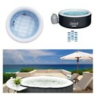 Portable Bubble Massage Spa Set Jacuzzi Hot Tub Inflatable Outdoor Relaxing Bath