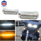 Chrome Motorcycle Highway Switchback Driving Light Crash Bars For 1.25'' Bars