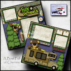 FUN ON WHEELS RV 2 premade scrapbook pages paper piecing camping layout CHERRY