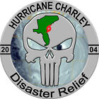Hurricane Charley Disaster Relief 2004 Sticker Decal Weather Car Truck windows