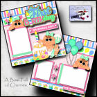 BABYS 1ST BIRTHDAY GIRL 2 premade scrapbook pages paper piecing layout CHERRY